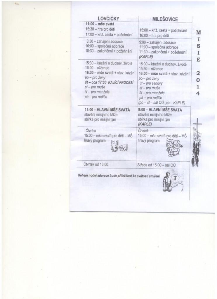 Sken- Program Lidových misií Lovčičky, Milešovice